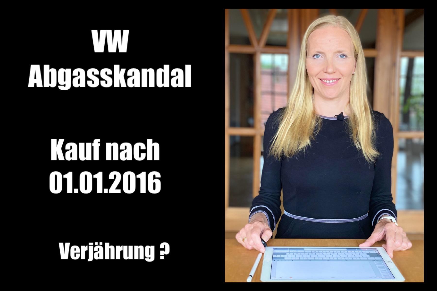 VW-Abgasskandal – positives Urteil für alle, die ihren Pkw ab 01.01.2016 gekauft haben